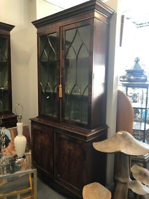 Pair of Antique Style Mahogany Bookcases , Federal Style