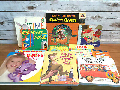 LOT OF 3 Baby Board Books Bedtime Rhymes Goodnight I Love You How
