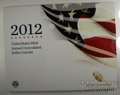 2012 U.S. Mint Annual Uncirculated Dollar Coin Set w/Silver Eagle, MINT SEALED !