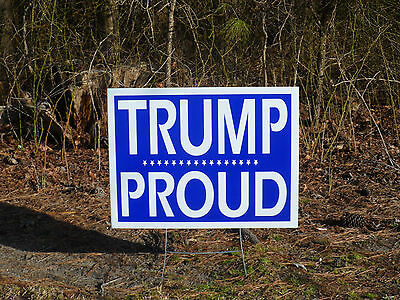 """*New* LARGE!, Durable! PRO TRUMP Yard Sign, HIGH DEF 18"""" X 24"""" w/ Stand included"""