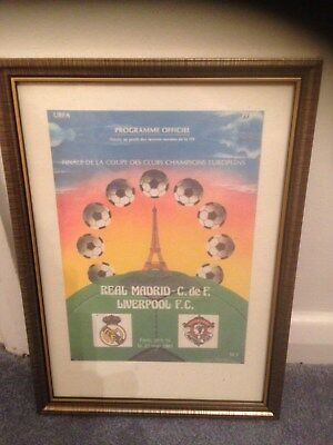 Framed Canvas Print Of 1981 European Cup Final - Liverpool V Real Madrid