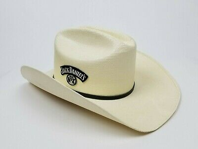 2cea66e33f182 Jack Daniels Men s JD Twisted white Western Cowboy Hat Very Good Condition