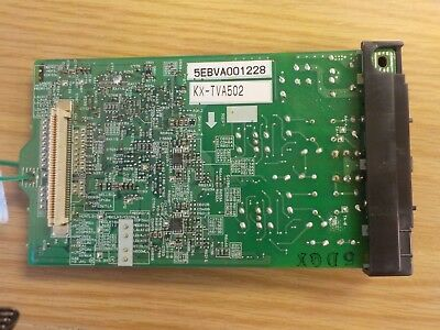 Panasonic KX-TVA502 digital/analog voicemail (2) port expansion card $160.00