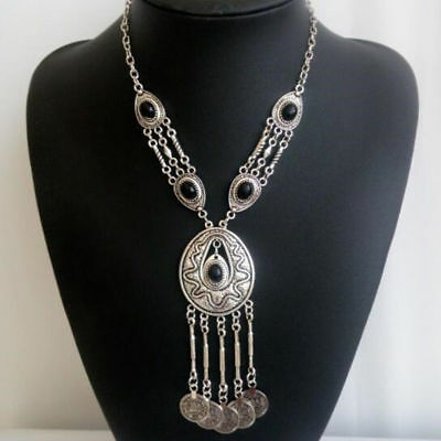 Bohemian Coin Necklace Ethnic Tribal Gypsy Boho Hippie Coachella Goddess Jewelry