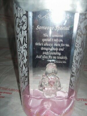 "Love In Box 22Kt Gold Glass Mirror Message ""Someone Special"" Bnib"