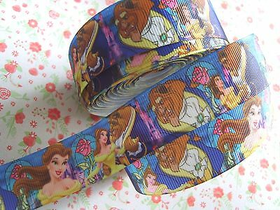 1 M x Beauty and the Beast Printed Grosgrain Ribbon Craft  Bow Cake Craft 25mm