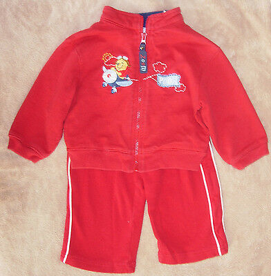 6-9 month boys red Winnie the Pooh zip sweatshirt with red 9 mo Carter's pants