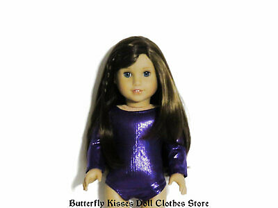 Purple Metallic Leotard 18 in Doll Clothes Fits American Girl