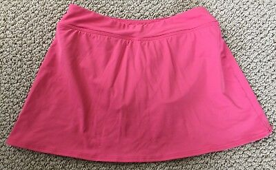 4c2e59fb0b LANDS END SIZE 16 CORAL TIERED SWIMSUIT BOTTOMS swim bikini SKIRT ...