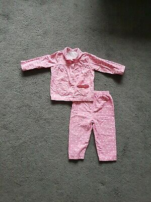Baby Girl Pyjamas Set Top and Bottoms Pink Floral 9-12 Months George