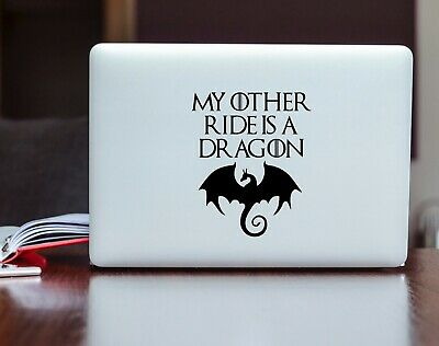 Game of Thrones My Other Ride is a Dragon Vinyl Decal Car Bumper Laptop Sticker