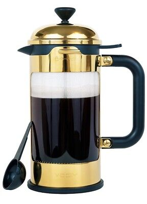 French Coffee Press by VODIY Fortluxe Gold Color 8 Cup Coffee or Tea Maker New