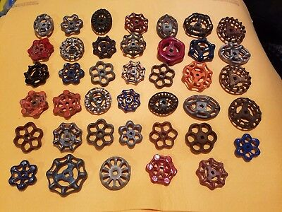Lot of 40 Vintage Industrial Metal Outdoor Faucet Hose Bibs