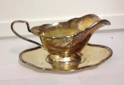Vintage Lawrence B Smith 520 rimmed LBS Co. Silver Plated Gravy Sauce Boat