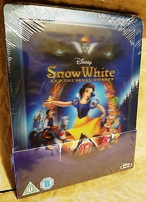 SNOW WHITE AND THE SEVEN DWARFS BluRay UK Limited Ed STEELBOOK Lenticular Magnet
