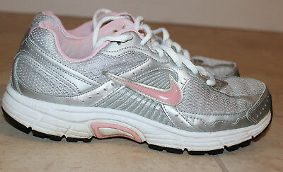 07d09ba8a NIKE DART 10 Silver   Pink Running Athletic Shoes Girl s Size 5.5Y ...