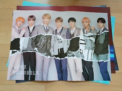BTS Bangtan Boys Love Yourself 結 Answer L VER . Official folded Poster  boma h