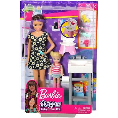 Barbie Skipper Babysitters Inc. Potty Training Playset and Doll NEW IN BOX