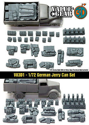 1/72 German Jerry Can Set - Value Gear War Gaming Dioramas - Brail Scale