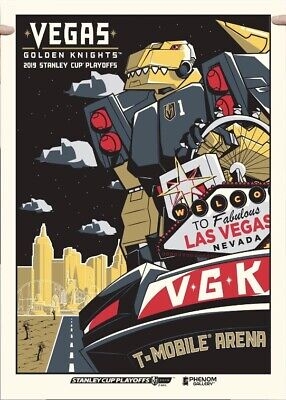 VEGAS GOLDEN KNIGHTS SERIGRAPH POSTER #26 OF 300 Playoffs Chance