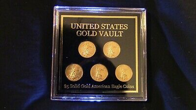 1/2 Ounce Gold in 5 separate 1/10 oz. 2018 Gold BU American Eagles 1 4 Barter