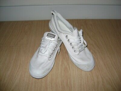 VOLLEY INTERNATIONAL Dunlop Volleys White Canvas Trainers Sneakers Unisex UK 6