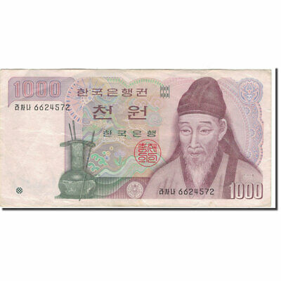 [#595843] Banknote, South Korea, 1000 Won, KM:47, VF(30-35)