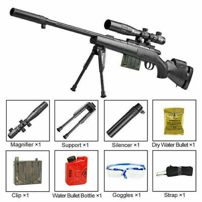 Water Crystal Weapon Gel Ball Gun M24 Blaster Police Pistol Sniper Toy Outdoor