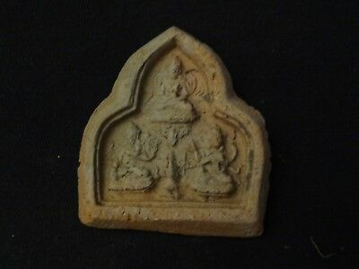 Antique  Mongolian Buddhist Clay Tsa Tsa