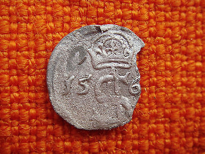 Old Madieval Antique Lithuania Lietuva 156x Dvidinaris SILVER Coin Nr 4958