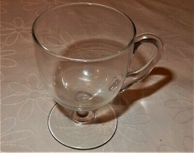 Glass CUSTARD CUP Hand Moulded and Hand Blown VICTORIAN or GEORGIAN VGC Antique