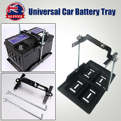 295x 200mm Universal Car Battery Tray Hold Down Clamp Adjustable 135-220mm D