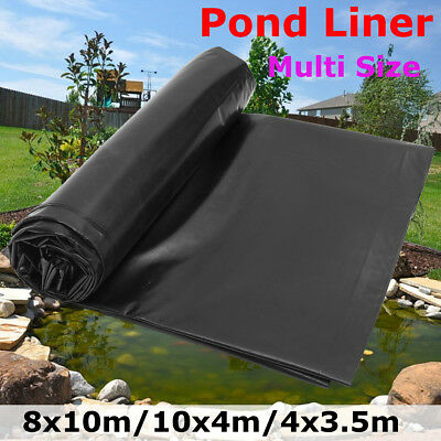 HDPE 0.5mm Heavy Duty Pond Liner Lining Garden Fish Ponds Landscaping Multi Size