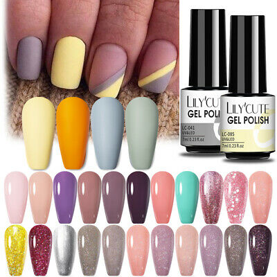 7ML Nail Art Vernis à Ongles Semi-permanent UV Gel Nail Polish Manucure LILYCUTE