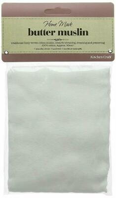 KitchenCraft Home Made Muslin Cloth for Straining, Steaming and Preserving, 90 x