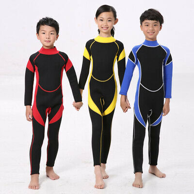 1243ab1d4b Boys Kids Girls Swimwear Full Length Wetsuit Surfing Diving Swimming Bath  Suit