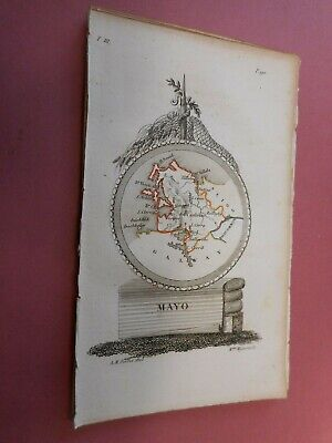 100% Original County Mayo  Ireland Map By A Perrot C1823 Vgc Scarce
