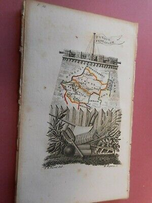 100% Original Tyrone Fermanagh  Ireland Map By A Perrot C1823 Vgc Scarce