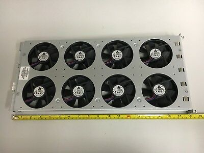Fan Tray, 8 each brushless 12vdc AFB0912H 92mm x 25mm fans