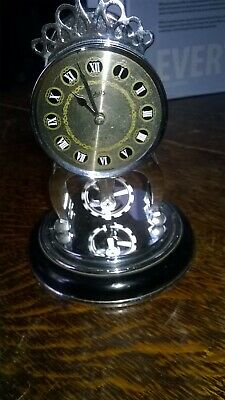 Vintage Anniversary 8 Day Clock. Made By Schatz, Germany. Chrome Plated. No Dome