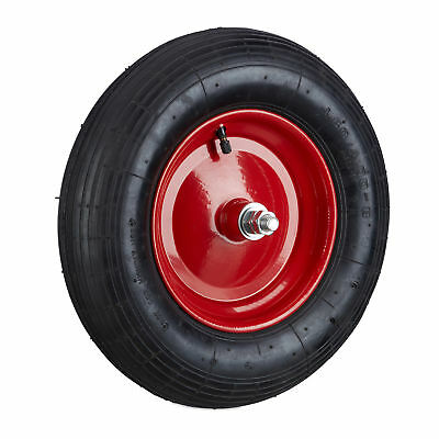 4.80 4.00-8 Pneumatic Spare Tyre for Wheelbarrows, Inflatable Wheel, Heavy Duty