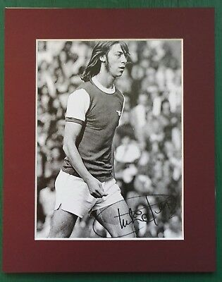 CHARLIE GEORGE ARSENAL  SIGNED 10 x 8 MOUNTED FA CUP WINNER 1971 AUTOGRAPH
