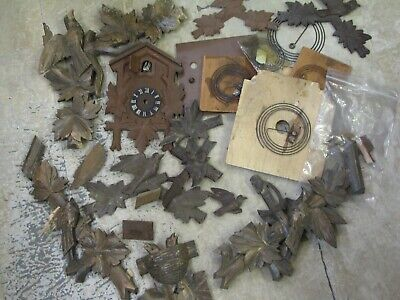 Old Wooden Cuckoo Clock Case Parts
