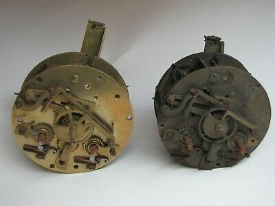 2 x French Striking Clock Movements for spares