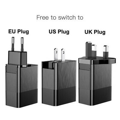 Mobile Phone Charger 3 Port USB Charger EU US UK Plug 2.4A Travel Wall Adapter