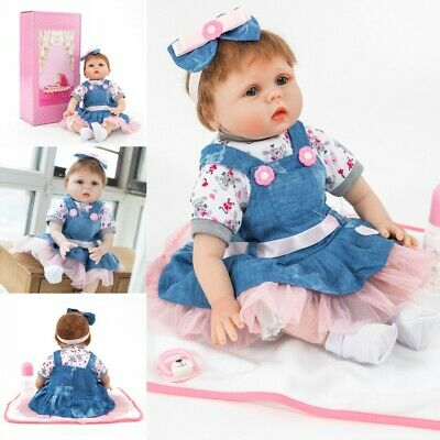 Realistic Silicone Reborn Doll Real Life Like Looking 22inch Newborn Baby Doll