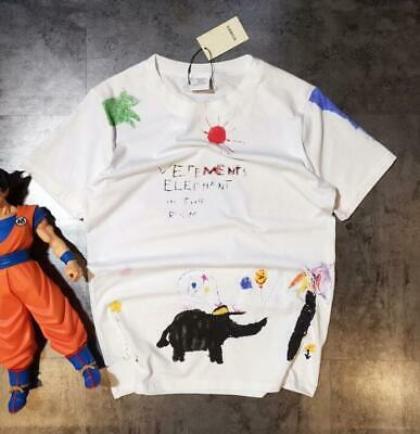 19ss Vetements crayon elephant graffiti print T-shirt