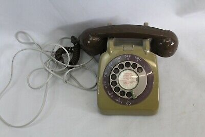 GPO Vintage 706 TELEPHONE in Brown with BT Plug fitted UNTESTED (Hospiscare)