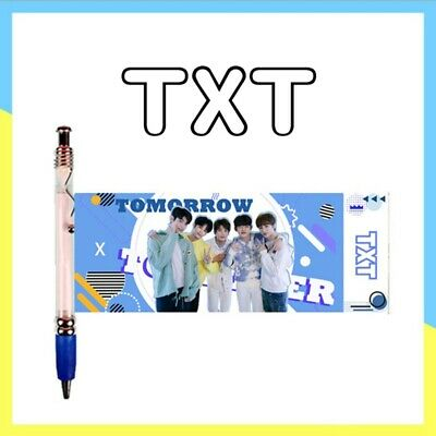 New Kpop TXT Pen Pull Out Photo Banner Pen YEONJUN SOOBIN Fans Stationery Gift