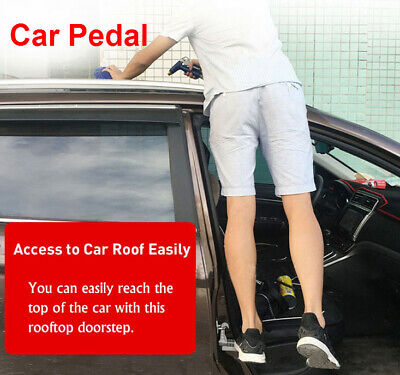 Rooftop Doorstep Car Pedal Vehicle Step Ladder Safety Anti-Skid For SUV RV Jeep